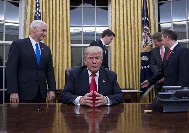 Donald Trump, John Kelly à la Maison-Blanche