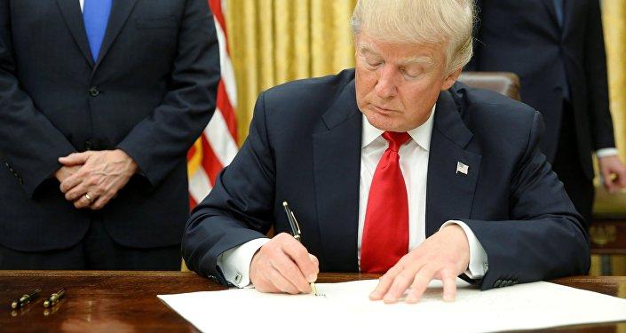 Le nouveau président américain Donald Trump