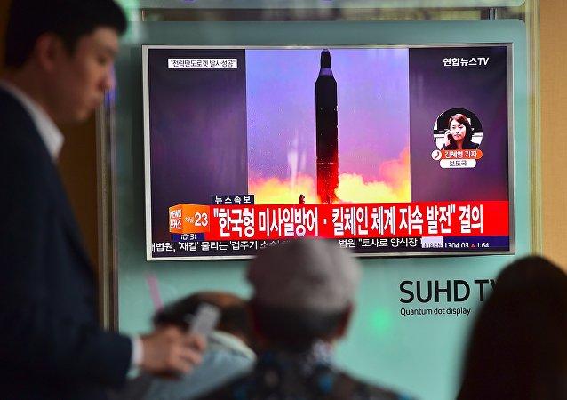 Lancement d'un missile nord-coréen