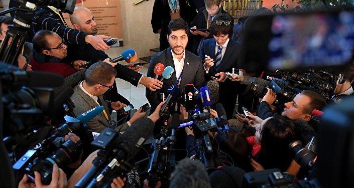 Le conseiller de la délégation de l'opposition syrienne Oussama Abou Zeid