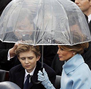 Melania et Barron Trump
