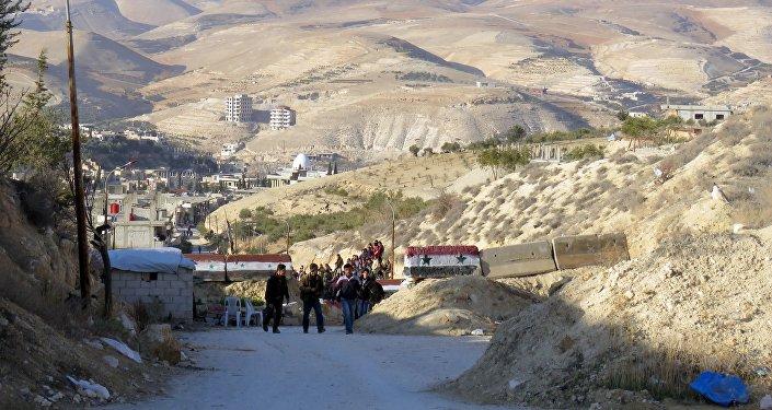 Dans la vallée du Barada, près de Damas