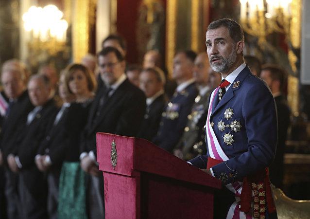 Le roi d'Espagne Philippe VI