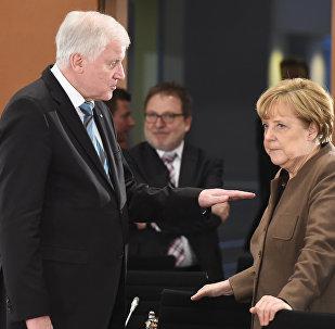 Horst Seehofer et Angela Merkel