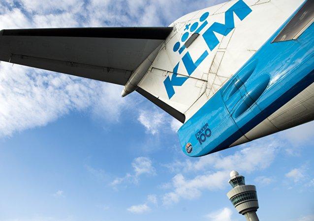 Un avion de ligne de la KLM