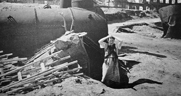 Руины города Сталинграда.