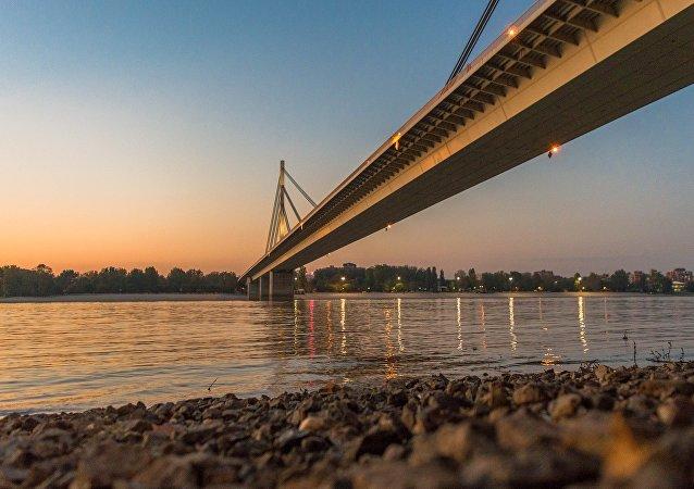 Le pont de la Liberté à Novi San traversant la Danube