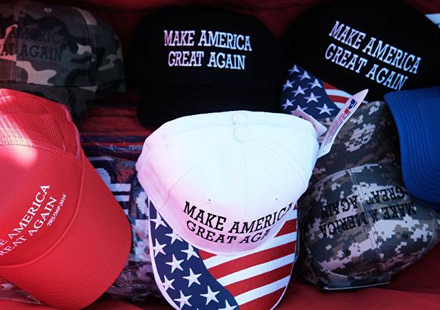 slogan de la campagne de Donald Trump « Rendre à l'Amérique sa grandeur »