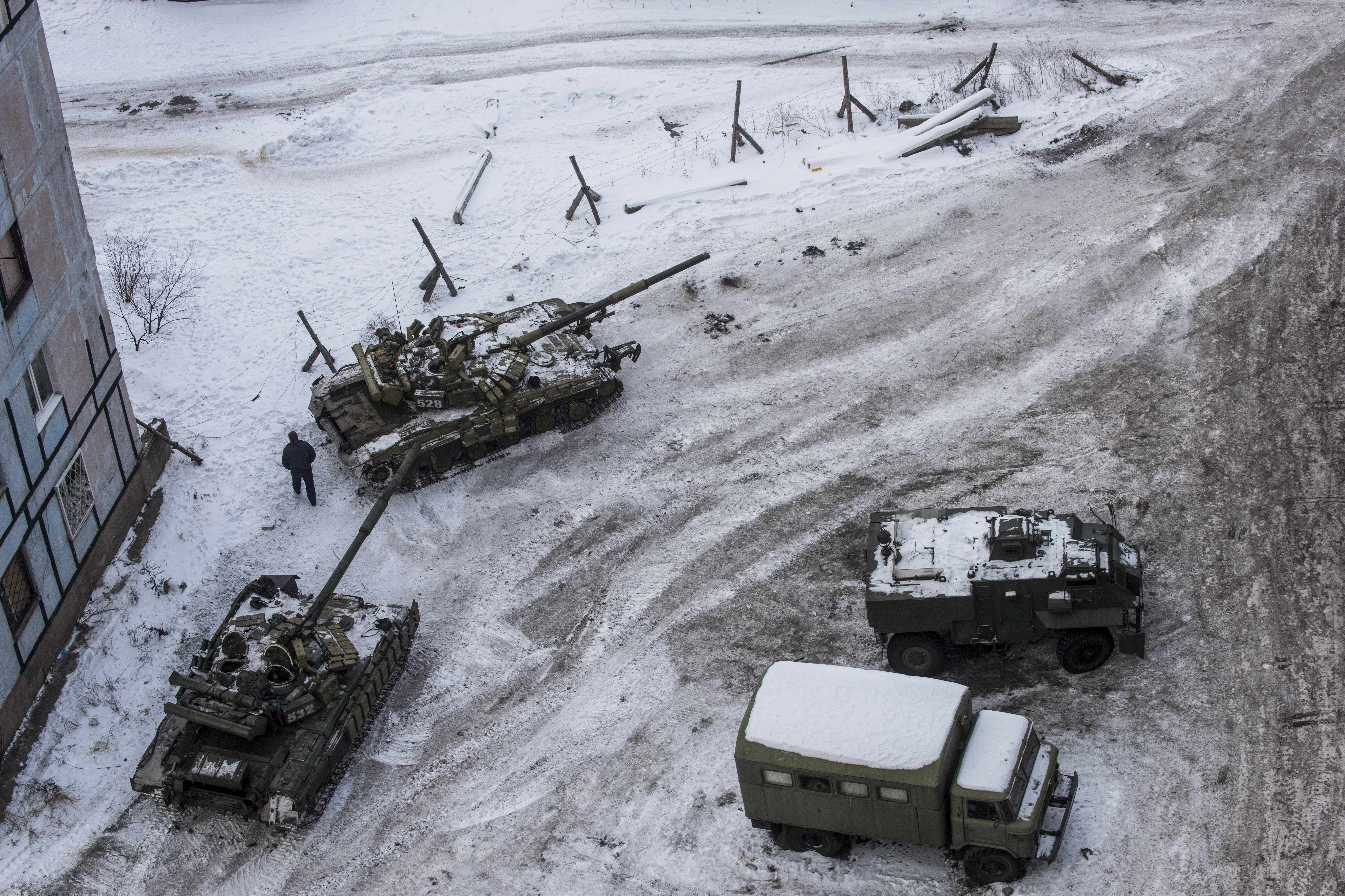 Des chars ukrainiens