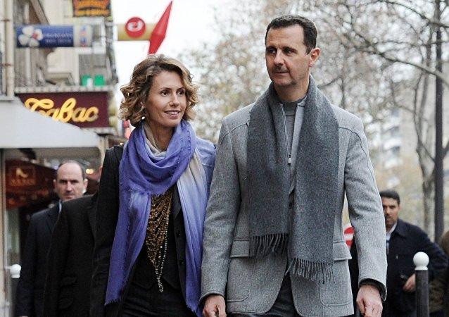 Le président syrien Bachar el-Assad et son épouse Asma. Archive photo