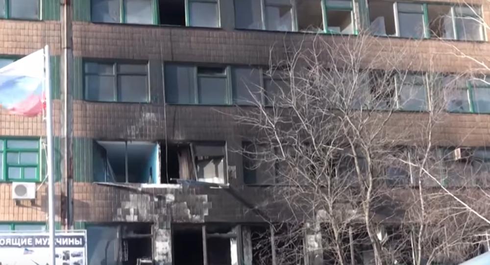 Le lieu du meurtre de Guivi, héros des insurgés du Donbass