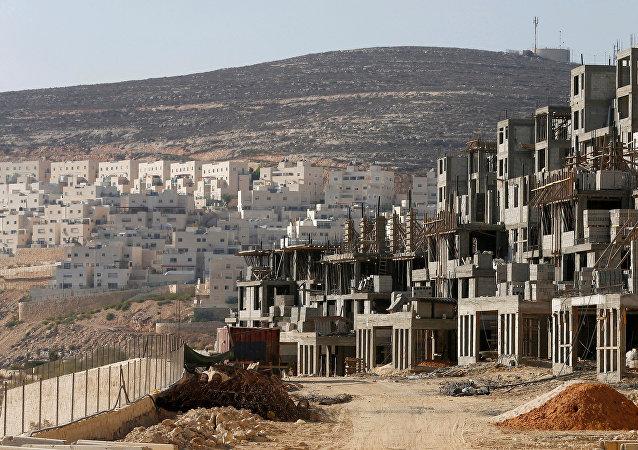 Un chantier dans une colonie juive en Cisjordanie