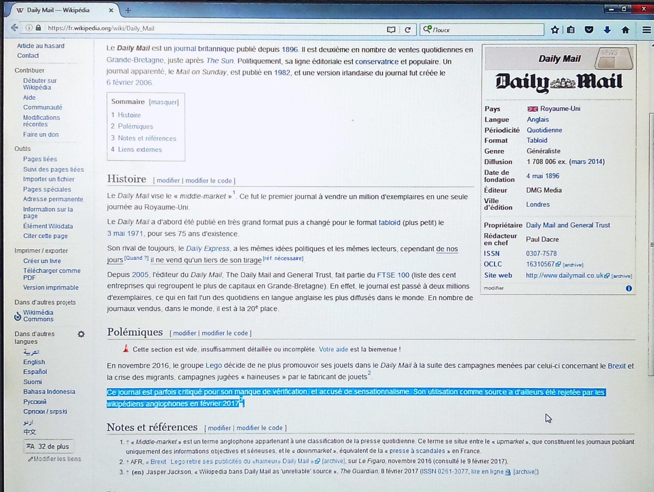 Daily Mail / Wikipedia
