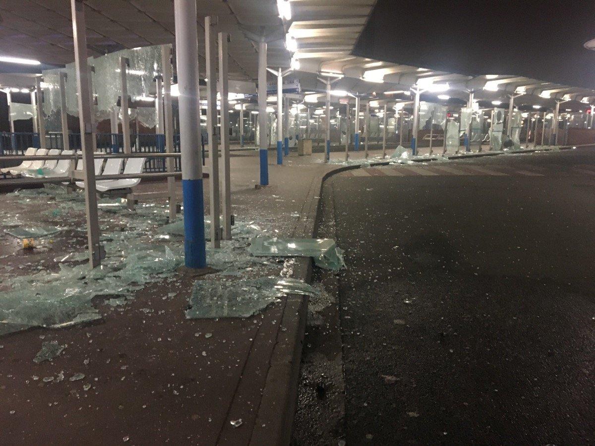 Destructions lors de la manifestation à Bobigny