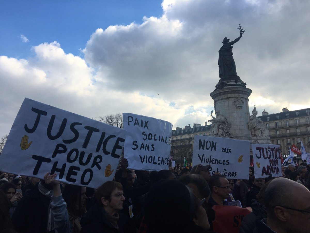 Manifestation #JusticePourTheo à Paris
