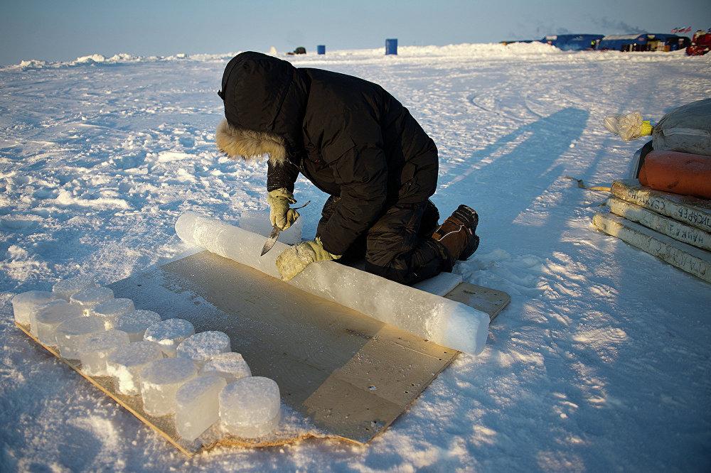 La base scientifique polaire russe Barneo