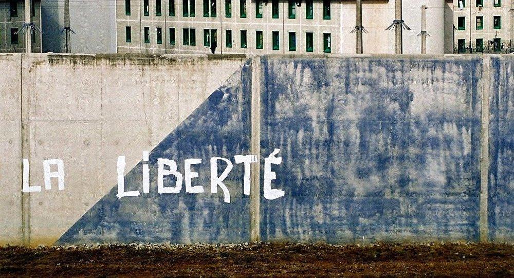 Mur d'une prison française, à Villeneuve-les-Maguelone.