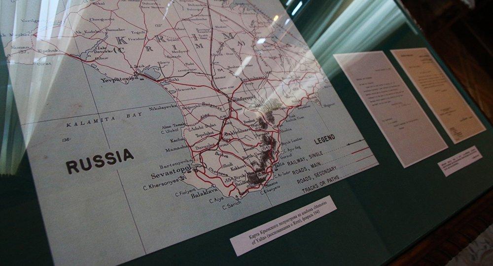 La carte de la péninsule de Crimée
