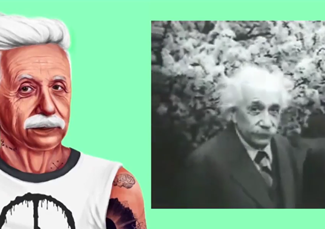 Albert Einstein version hipster!