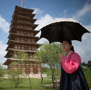 Une jeune fille à Pyongyang