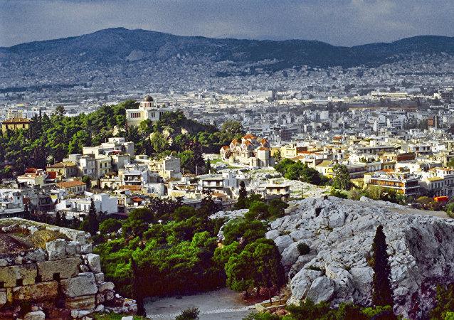 Une vue sur Athènes