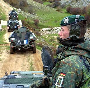 Troupes de la Bundeswehr en 2001. Image d'illustration