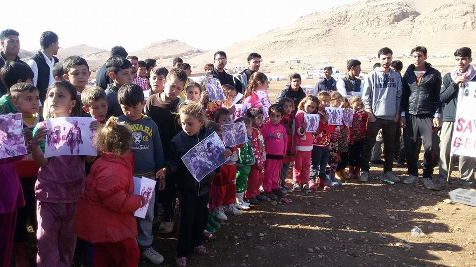 Rassemblement à Sinjar