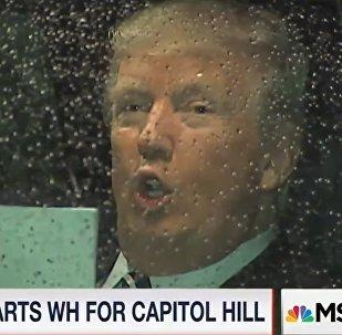 Donalr Trump en route au Congrès