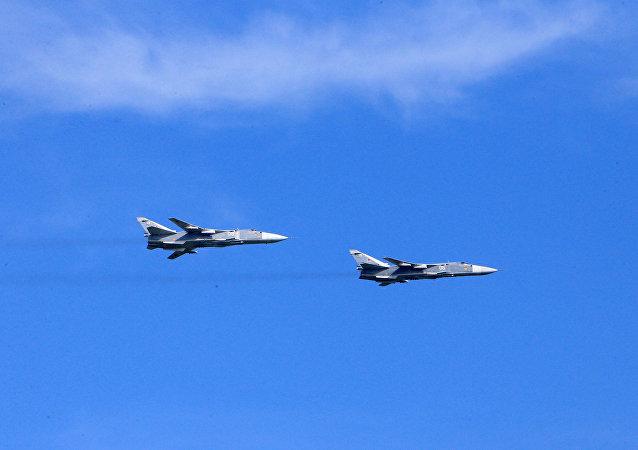 Des bombardiers russes Su-24