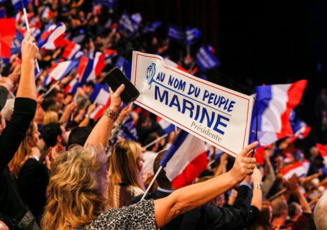 Les partisans du Front national
