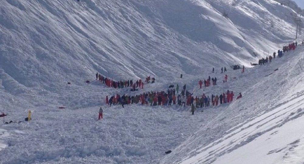 Avalanche à Tignes