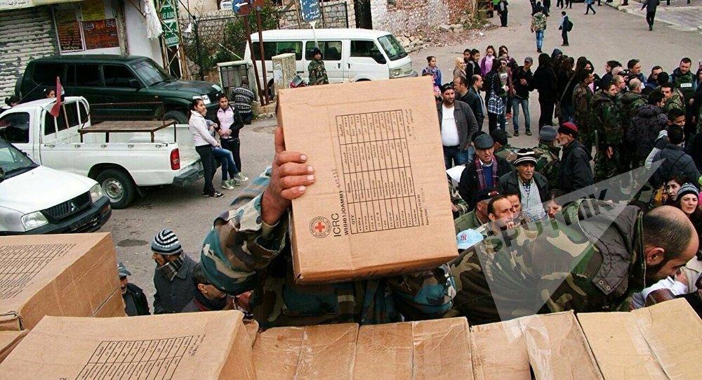 Moscou livre une aide humanitaire à la province de Damas