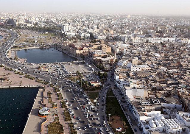 Une vue aérienne de Tripoli, Libye