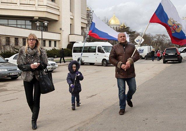 Le référendum sur le futur statut de la république autonome de Crimée. Archive photo