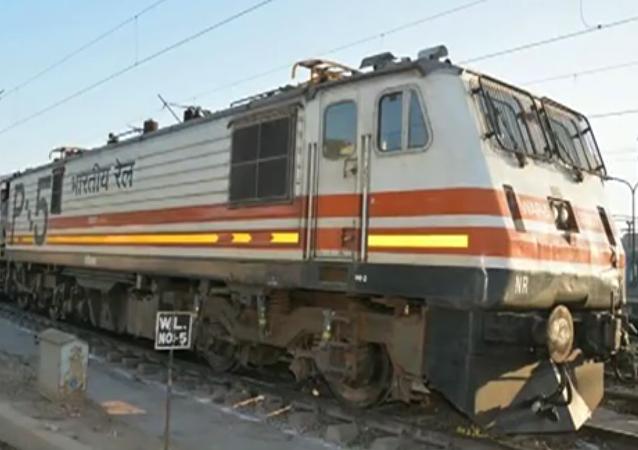 Un train indien