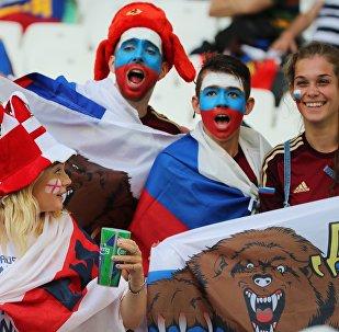 Des supporteurs russes