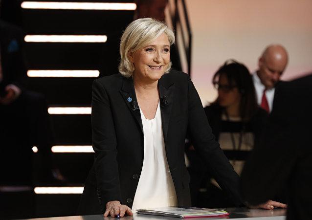 Marine Le Pen, candidate aux législatives à Hénin-Beaumont