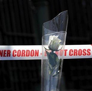 Le lieu d'attentat à Londres