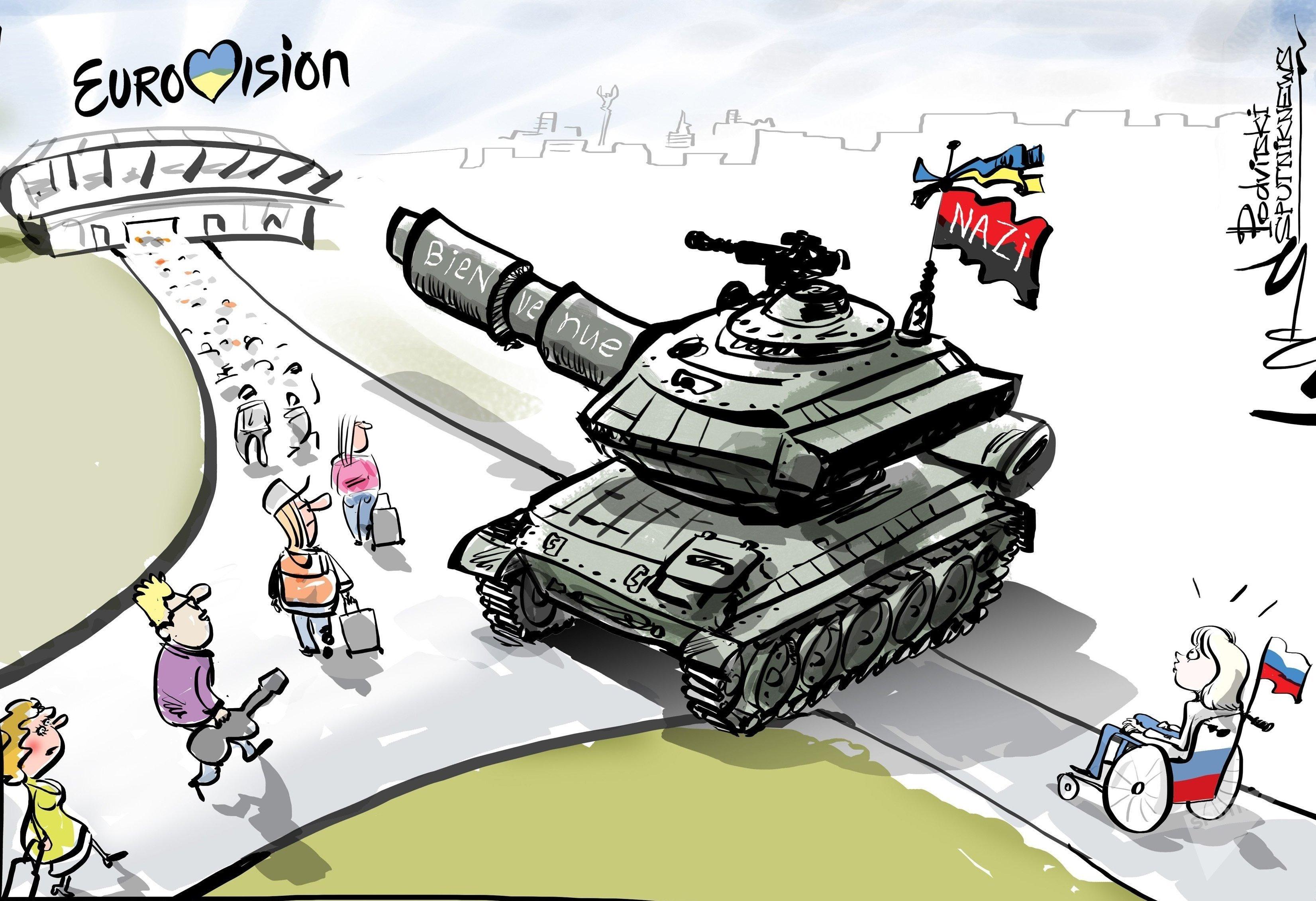 Eurovision: la candidate russe interdite en Ukraine, Moscou veut boycotter le concours