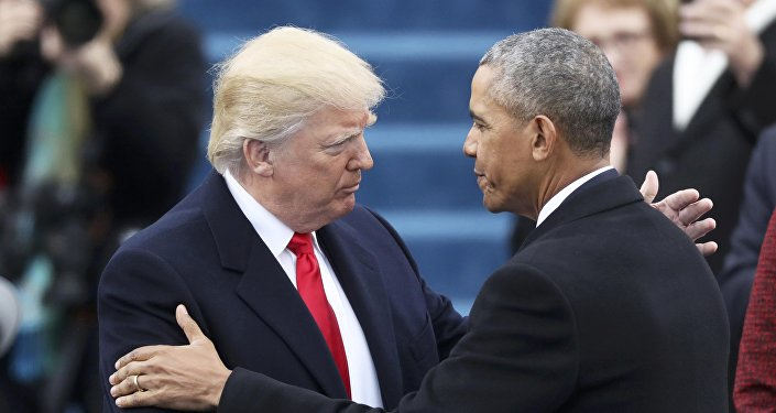 Barack Obama avec Donald Trump