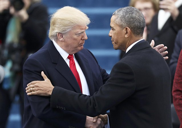 Barack Obama et Donald Trump