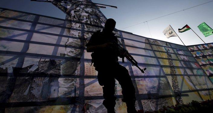 Un combattant du Hamas dans la bande de Gaza