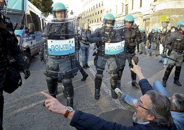Une manifestation à Rome