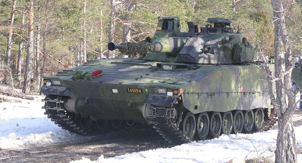 CV9040 de l'armée suédoise, image d'illustration