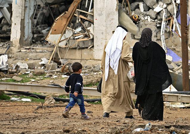 Destruction à Mossoul