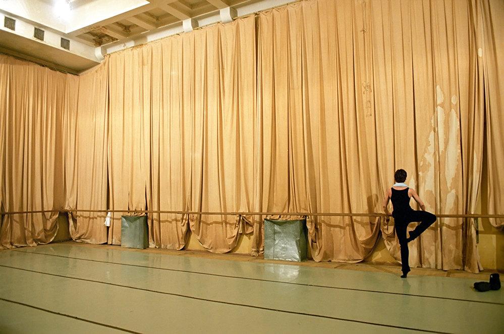 Le soliste Sergei Filin dans la salle de répétition du Théâtre du Bolchoï.
