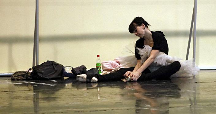 soliste de ballet russe du Bolchoï Natalia Osipova en répétition