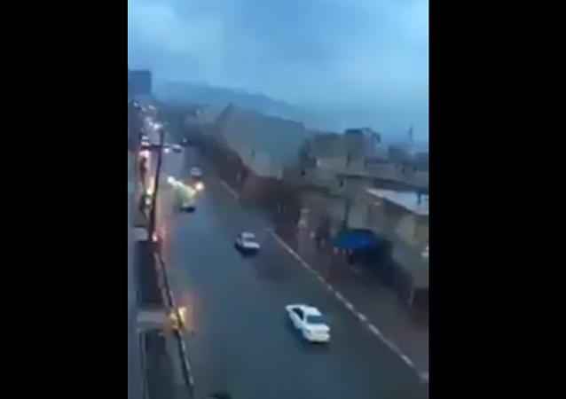 La foudre s'abat sur une voiture au Maroc