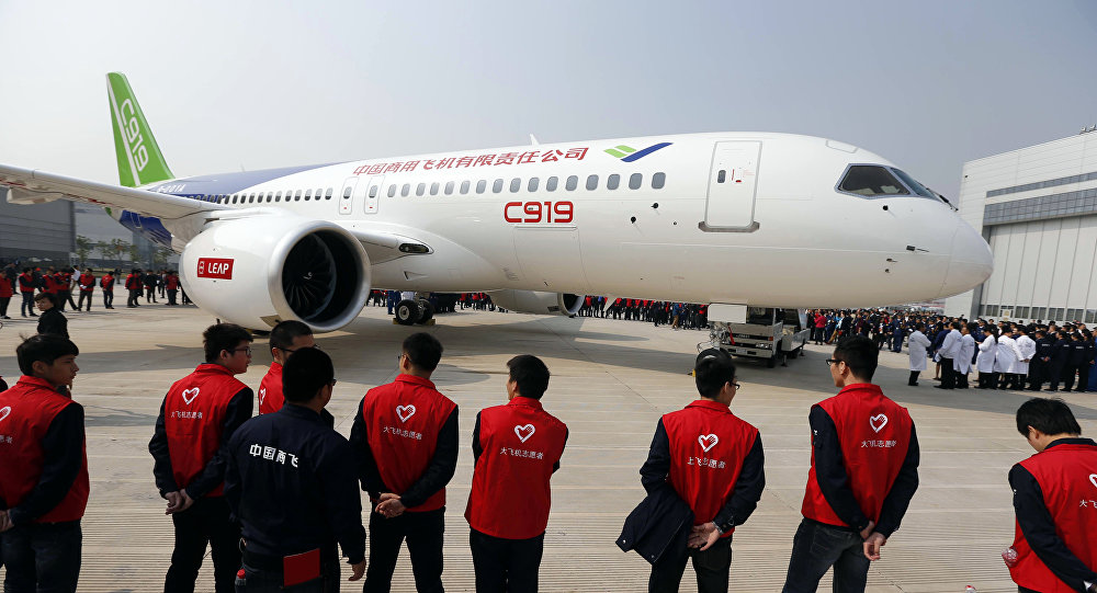 Le premier avion de ligne chinois C919