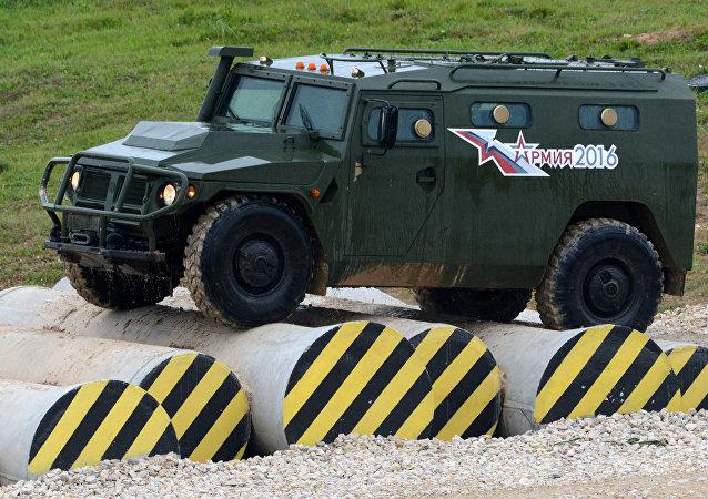 Un véhicules blindé Tigr